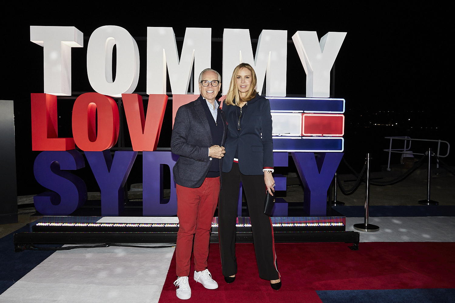 Dee and Tommy Hilfiger